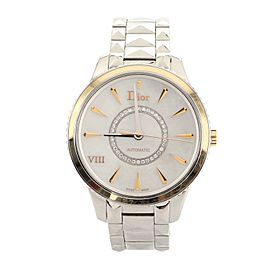 Christian Dior VIII Montaigne Automatic Watch Stainless Steel with Rose Gold and Mother of Pearl with Diamonds 36