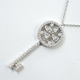 Key motif Diamond/Pt850Platinum/Pt900Platinum Necklace