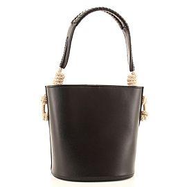 Prada Tambour Bucket Bag Leather with Rope Detail Medium
