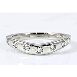 Bulgari Platinum Diamond Ring Size 4