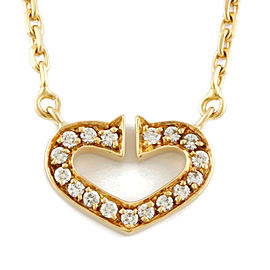 CARTIER 18K Gold Diamond Necklace CHAT-244