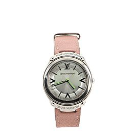 Louis Vuitton Fifty Five Quartz Watch Stainless Steel and Leather 31