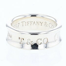 TIFFANY & Co Silver925 1837 about 7mm Ring TBRK-518