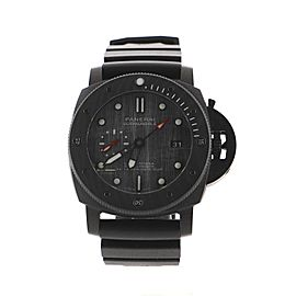 Panerai Luminor Submersible Luna Rossa Automatic Watch Carbon and Titanium with Rubber 47