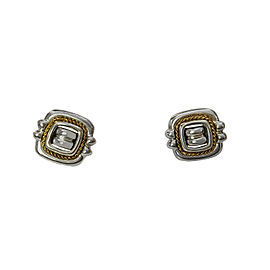 Tiffany & Co. Vintage Sterling 18k Yellow Gold Fancy Square Clip On Earrings