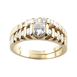 14K Yellow Gold with 1ctw. Diamond Engagement Ring Size 5.5