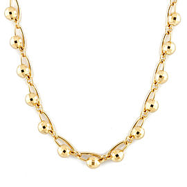 18k Yellow Gold Mirror ball Necklace