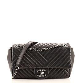 Chanel CC Crossing Flap Bag Chevron Lambskin Small
