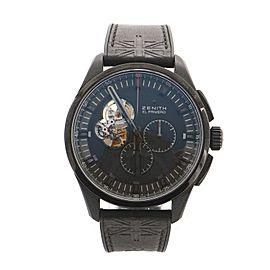 Zenith El Primero Rolling Stones Chronograph Automatic Watch DLC Titanium and Embossed Rubber 45