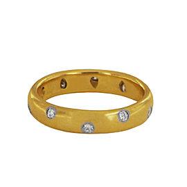 Tiffany & Co. 18k Gold & Platinum Etoile Band Ring with Diamonds