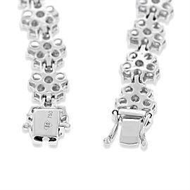 18K White Gold 6.87ct. Diamond Flower Floral Bracelet