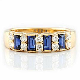MIKIMOTO 18K yellow Gold Sapphire Diamond Ring