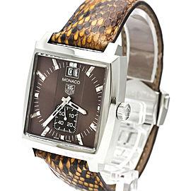 TAG HEUER Monaco Lady Diamond Steel Quartz Watch WAW1315