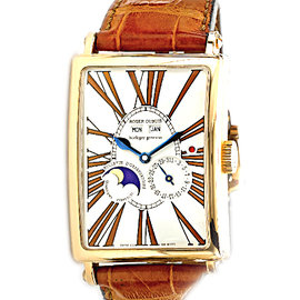 Roger Dubuis Bi-Retrograde Calendar Moonphase 18K Rose Gold Mens Watch