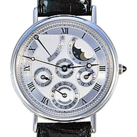 Breguet Perpetual Calendar Power Reserve Platinum 39mm Strap Watch
