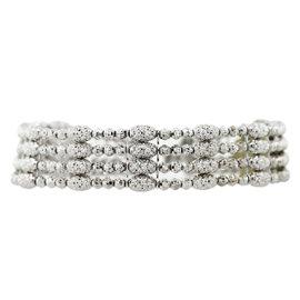Officina Bernardi Sterling Silver Alloyed With Platinum Bracelet