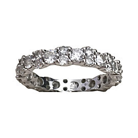 Blue Nile Garland White Gold & Diamond Eternity Band Ring Size 7.5