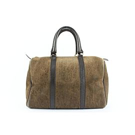Dior Embossed Suede Monogram Trotter Boston Bag 712da323