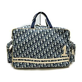 Christian Dior Navy Monogram Trotter Reporter Camera Bag 863233