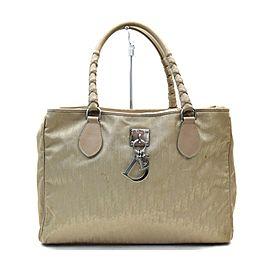 Christian Dior Beige Monogram Trotter Braided Handle Tote Bag 863203