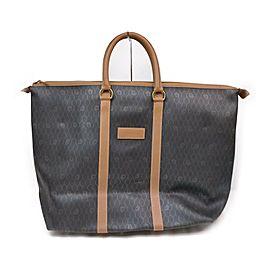 Christian Dior Black x Brown Monogram Trotter Honeycomb Tote Bag 863497