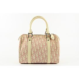 Christian Dior Pink Monogram Trotter Boston Bag 1drlm122