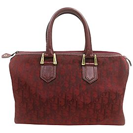 Dior Bordeaux Monogram Trotter Boston Bag 863155