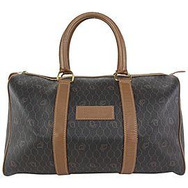 Dior Black x Brown Monogram Trotter Honeycomb Boston Bag Duffle 826da70