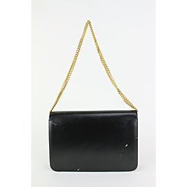 Dior Black Box Calf Leather Flap Chain Bag 827da9