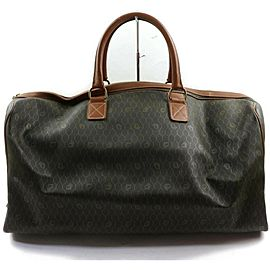 Dior Duffle Extra Large Monogram Trotter Signature Oblique Boston 872618 Black Coated Canvas Weekend/Travel Bag