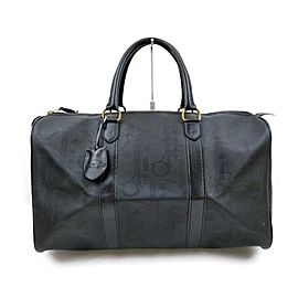 Christian Dior Black Monogram Trotter Boston Duffle 863499