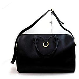 Dior Duffle Monogram Trotter Boston with Strap 872833 Black Coated Canvas Satchel