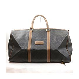 Christian Dior Black Monogram Trotter Honeycomb Boston Duffle bag 863402