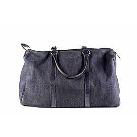 Dior Duffle Oblique Monogram Navy Boston 2dior613 Blue Suede Leather Weekend/Travel Bag