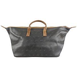 Dior XL Black Monogram Trotter Honeycomb Duffle Convertible Travel Bag 86da
