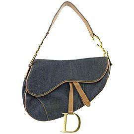 Christian Dior Rare Denim Saddle Flap Bag 862743