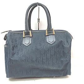 Christian Dior Navy Monogram Trotter Boston Bag 863069