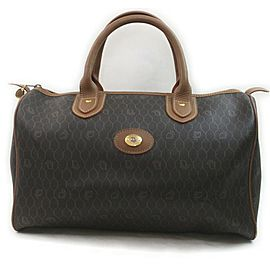 Christian Dior Black Monogram Trotter Boston Medium Duffle Bag 863141