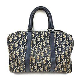 Christian Dior Navy Blue Monogram Trotter Boston Bag 863172