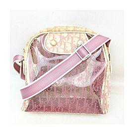 Christian Dior Clear Pink Monogram Trotter Messenger Bag 857453
