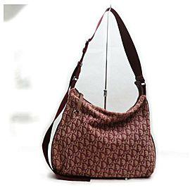 Christian Dior Burgundy Monogram Trotter Messenger Crossbody Bag 862493