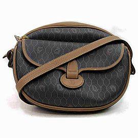 Dior Messenger Logo Monogram Trotter 873002 Black Pvc Cross Body Bag
