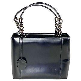Dior Mini Fancy 16da529 Black Leather Tote
