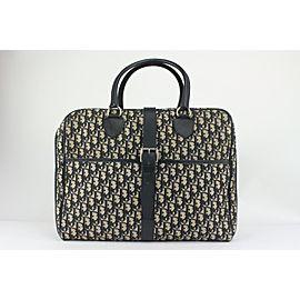 Dior Navy Blue Monogram Trotter Briefcase Luggage Business Bag 818da67