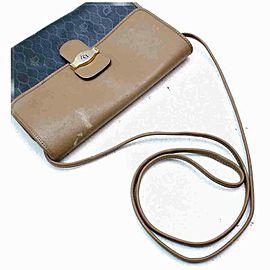 Dior Monogram Trotter Flap Black 860052 Brown Coated Canvas Cross Body Bag