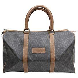 Dior Duffle Signature Oblique Monogram Trotter Monogram Boston 868479 Black Coated Canvas Weekend/Travel Bag
