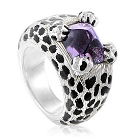 Dior Mitza 18K White Gold Amethyst Ring