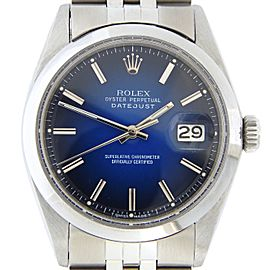 Mens Rolex Stainless Steel Datejust Blue