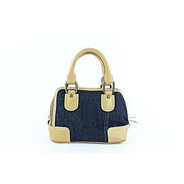 Dolce&Gabbana Fringe Boston 25mz1016 Beige Denim Satchel