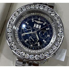 Breitling Bentley Customized Diamond Watch White MOP Diamond Dial - Diff. $8732.32